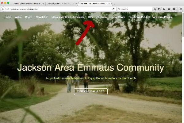 Jackson Emmaus website